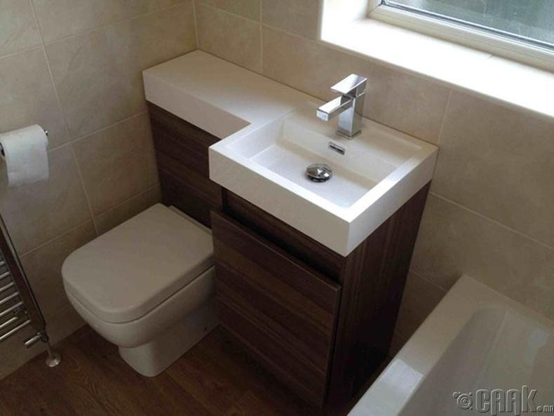 Жижиг зайтай угаалгын өрөөнд тохирсон шийдэл