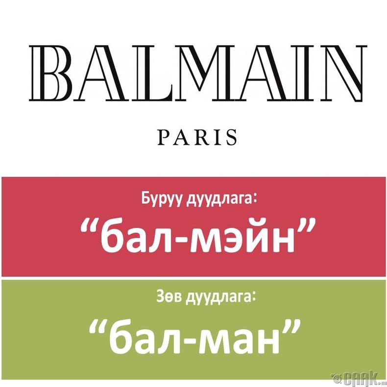 """""""Balmain"""""""