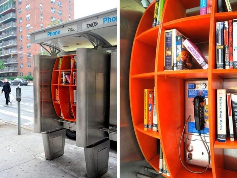 Гудамжинд байрлах бяцхан номын сан