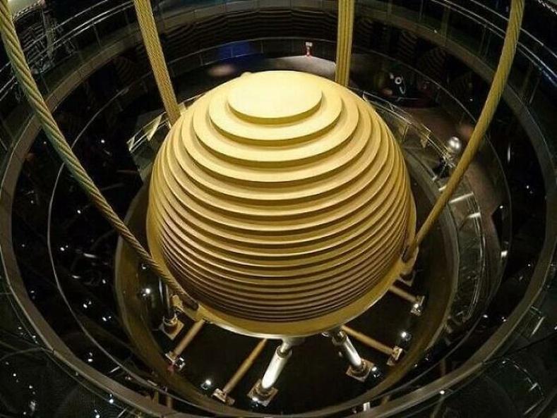 Taipei 101 барилга дахь газар хөдлөлтийн чичиргээний багасгах инерцийн хаалт, Тайвань