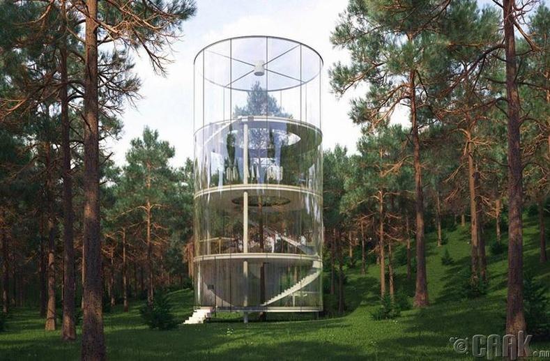 Дотроо модтой цилиндр байшин
