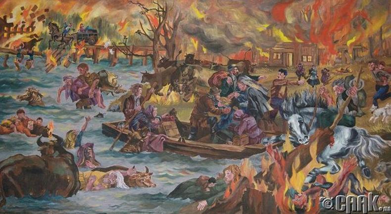 Пештигогийн түймэр, 1871.10.08  (Амиа алдагсдын тоо 1200 гаруй)