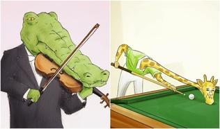 """""""Анааш, матар хоёрын хэцүүхэн амьдрал"""" - Япон зураачийн хөгжилтэй бүтээлүүд"""