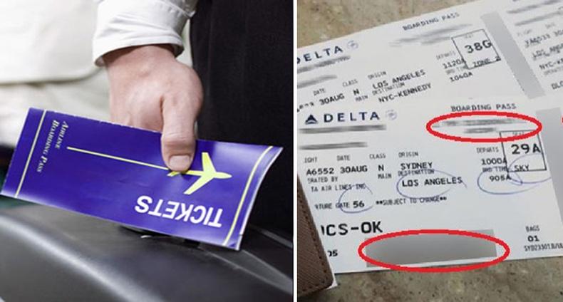 Онгоцны тасалбараа яагаад хүмүүст харуулж болохгүй вэ?