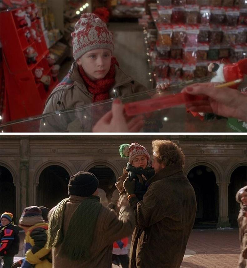 Марв киноны хоёрдугаар ангид нэг хүүхдийг Кевинтэй андуурч барьж авдаг. Учир нь өмнө Кевин хүүтэй ижилхэн малгайтай байсан.