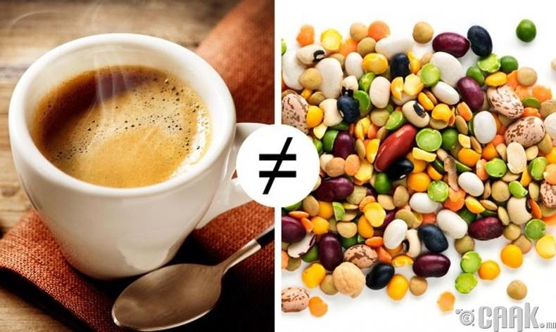 Кофег шош бус харин үрээр хийдэг