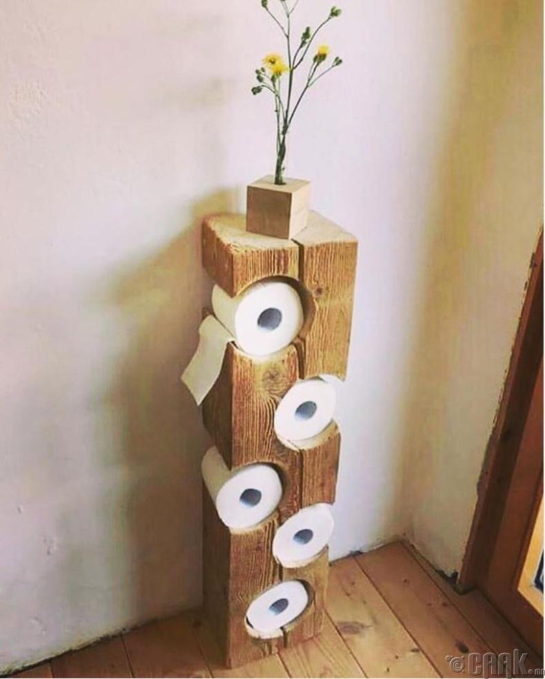 Ариун цэврийн цаас болон цэцгийн тавиур