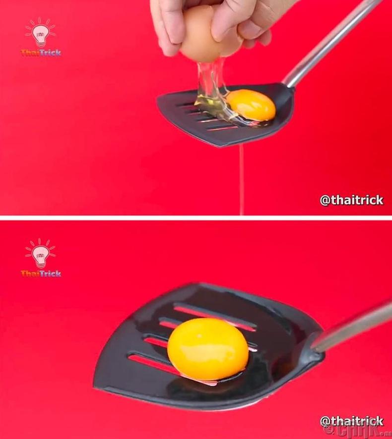 Өндөгний шарыг салгах
