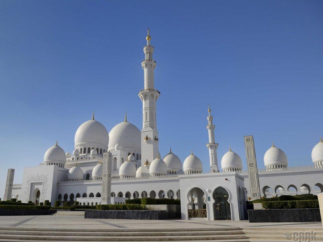 """""""Шейх Заяд сүм"""" Абу Даби хот, Арабын Нэгдсэн Эмират улс"""
