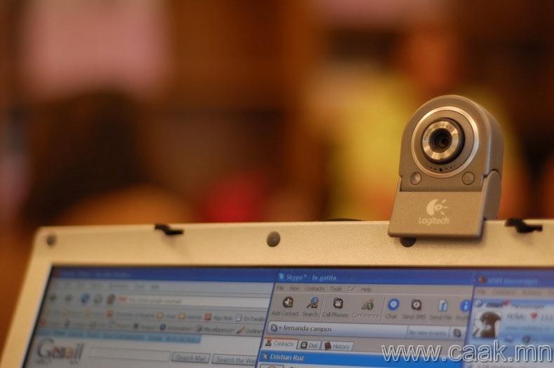 Кофены ачаар веб-камер үүссэн