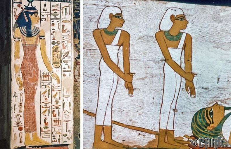 Египет бүсгүйчүүд энгэр задгай хувцасладаг байсан