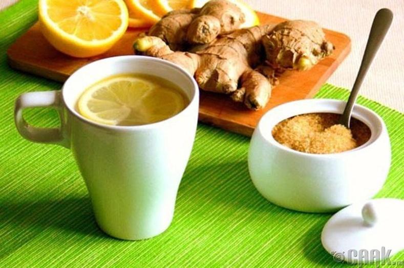 Цагаан гаа, нимбэгтэй цай