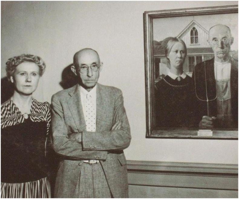 """""""Америк Готик"""" алдарт уран зургийн модель хос - 1930 он"""