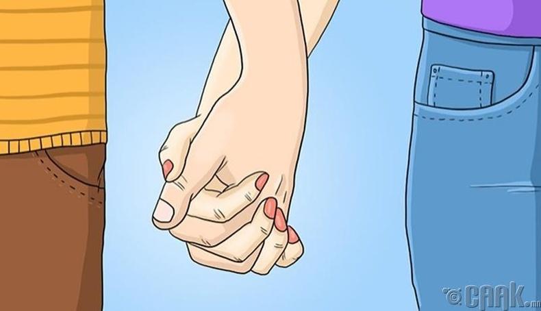 Гараа чагталж, хөтлөлцөх
