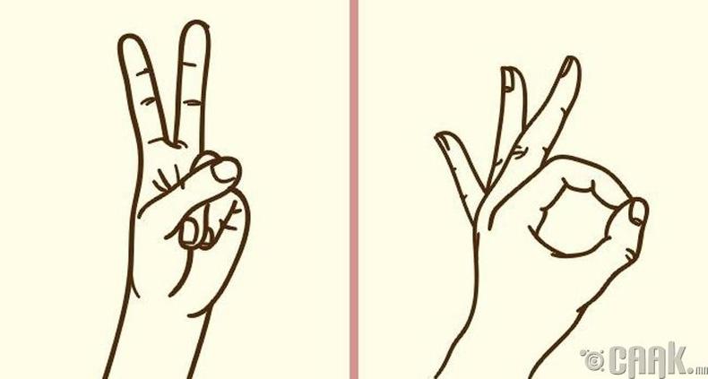 Хуруугаараа дохио үзүүлэх