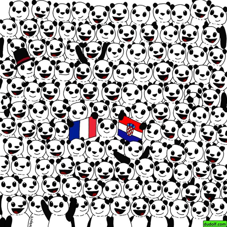 Панданууд дундаас хөл бөмбөгийн бөмбөг олоорой