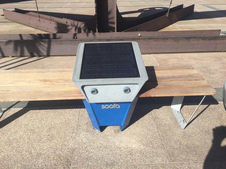 Нарны энергиэр цэнэглэгддэг USB-тэй сандал