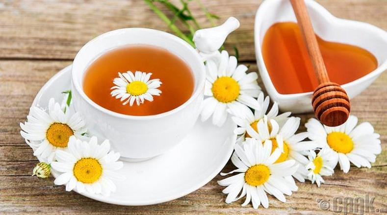 Алтан товч цэцгийн цай уух