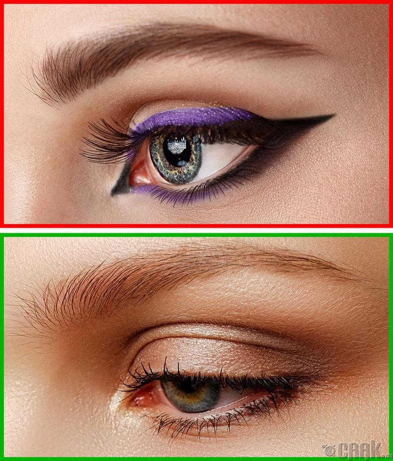 Цэнхэр, ягаан өнгийн нүдний будаг