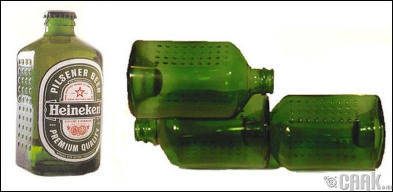 """""""Heineken"""" тоосго хэлбэрийн лонх үйлдвэрлэсэн нь"""