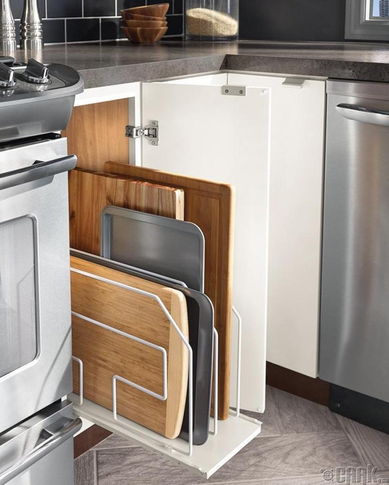 Гал тогооны тавилгын нэг нүдийг зөвхөн банз, хавтангуудад зориулаарай