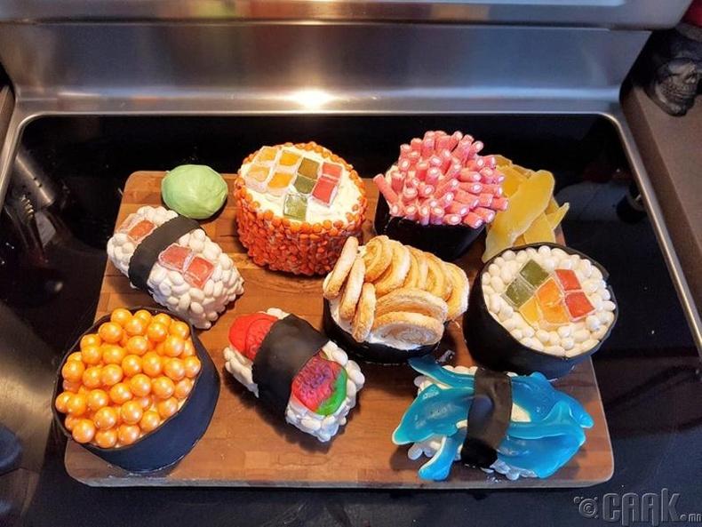 Сушины цуглуулга хэлбэртэй бялуу