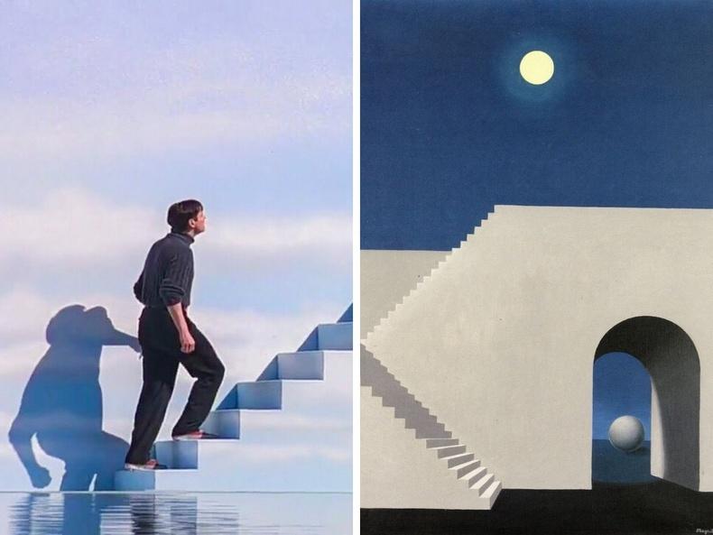 """""""Трумэний шоу"""" (1998), найруулагч Питер Вайр - """"Сарны гэрэлд"""", зураач Рене Магритт, 1956"""