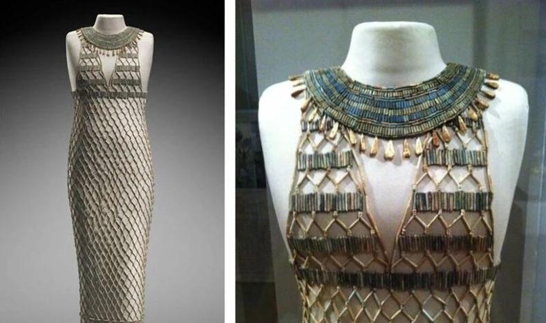 4500 жилийн өмнөх эртний Египет бүсгүйчүүдийн өмсөж байсан даашинз. Задгай хувцаслалт юу ч биш байжээ.
