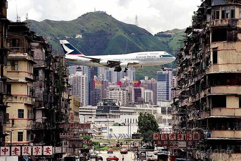 """""""Кайтак"""" нисэх онгоцны буудал, Хонконг"""