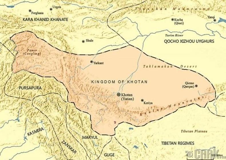 Ютянь улсын нийслэл Хотан