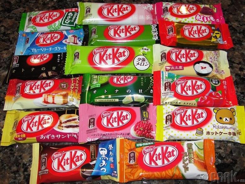 Япончууд хэдэн зуун төрлийн амттай Кит-Кат үйлдвэрлэжээ