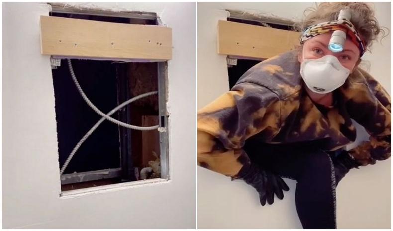 Нью-Йоркийн нэгэн бүсгүй угаалгын өрөөнийхөө толины ардаас нууц орон сууц олжээ