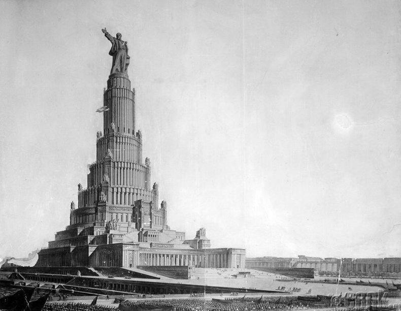 """Москвад барихаар төлөвлөж байсан 420 метр өндөр """"Зөвлөлтийн ордон"""""""