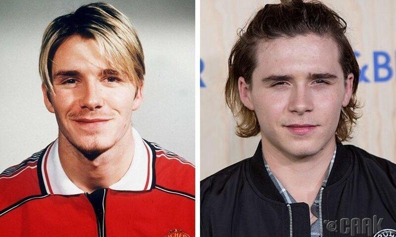 Хөлбөмбөгчин Дэвид болон Брүүклин Бэкхем (David, Brooklyn Beckham)