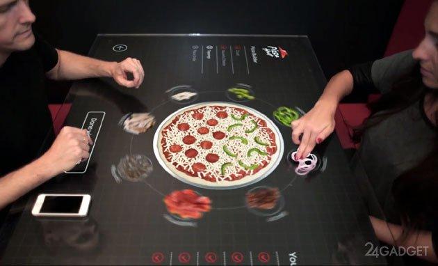 Пиццагаа өөрөө хийдэг ширээ