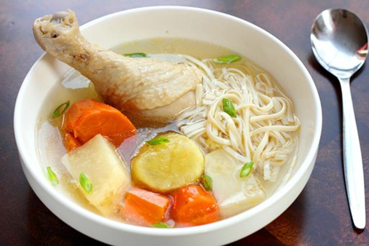 Суп с куриными ножками
