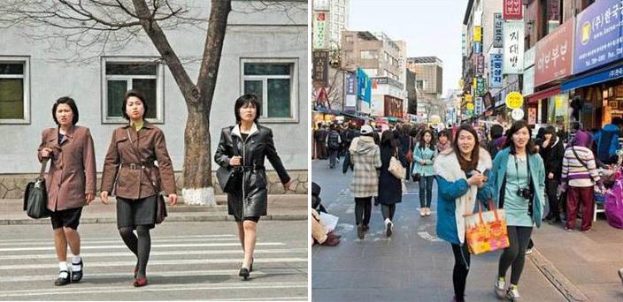 Хойд болон Өмнөд Солонгосын хоорондын ялгаа