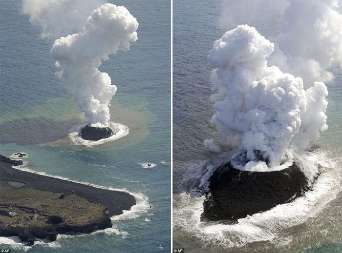 Япон тэнгисийн эрэг дээр шинэ арал бий болжээ