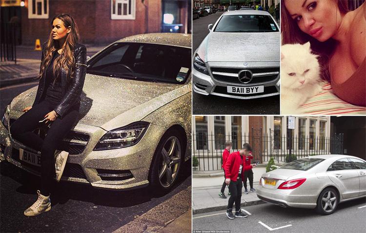 Оросын тэрбумтны 22 настай охины машин Лондончуудыг алмайруулав
