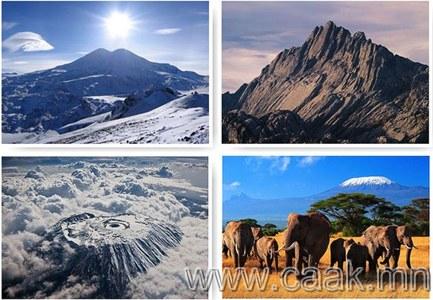 Зургаан тивийн хамгийн өндөр Уулс