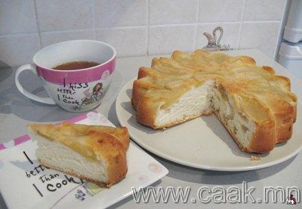 Амралтын өдрийн алимны бялууны жор