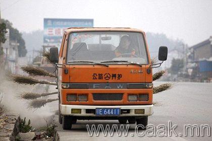 Хятадын гудамж цэвэрлэдэг машин